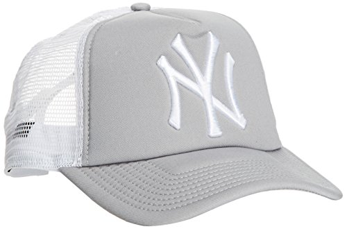 New Era MLB Trucker NY Yankees Grey Casquette Homme, Gris, FR Fabricant : Taille Unique