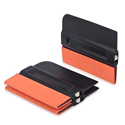 Gomake Auto Vinyl Wraps Tool Professional 4 Inch Magnet Squeegee with Micro-Fiber Felt Edge/Film Squeegee/Vinyl Squeegee/Plastic Scraper, Pack of 3