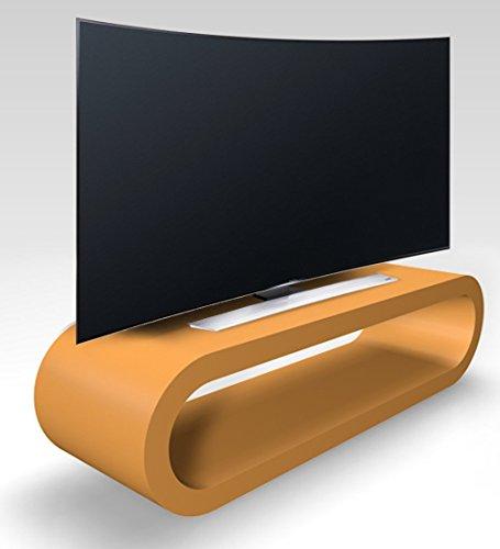 Zespoke Design Rétro de Cercle de Style Grande Ambre Meuble TV Mat/Armoire 110cm
