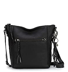 commercial Ashland Sak Women's Leather Shoulder Bag, Black, 1 US Size lightweight leather bags