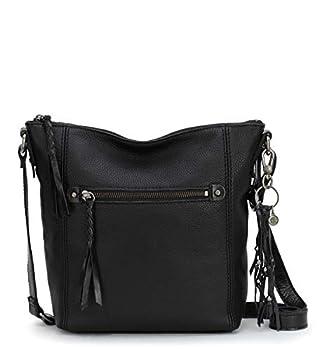 The Sak womens Women s Ashland Leather Crossbody Handbag Black One Size US