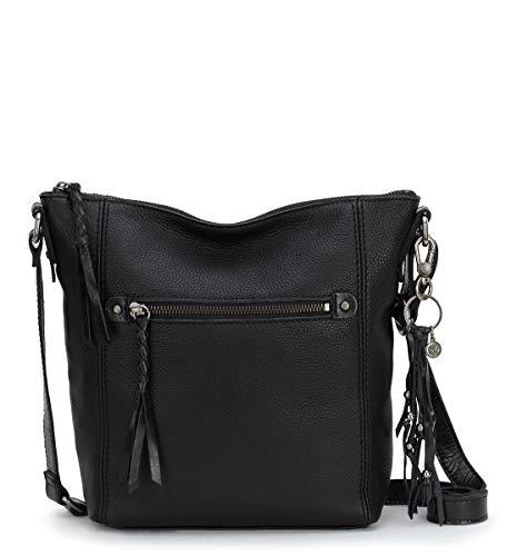 The Sak womens Women's Ashland Leather Crossbody Handbag, Black, One Size US