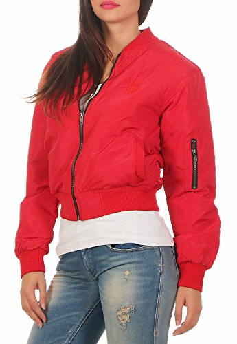 Gennadi Hoppe Chaqueta bomber para mujer rojo XXL