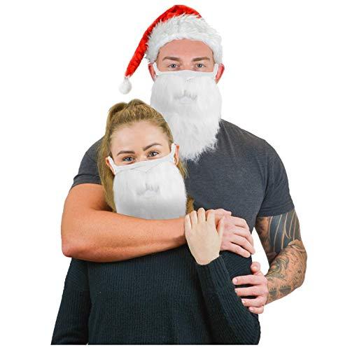 AMP Weihnachten Nikolaus Mundschutz Bunt ,Bart mit Schnurrbart, Weihnachtsmann, Nikolaus, Seemann, Weihnachten, Mottoparty, Karneval (D, 1 PC)