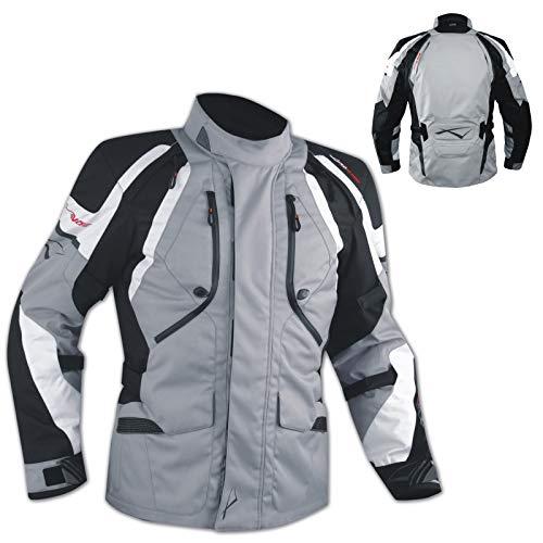 Giacca Offroad Enduro Moto Turismo Impermeabile Tessuto Protezioni Nero XL