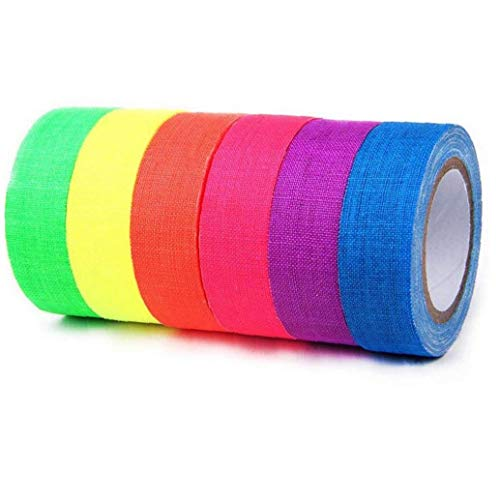 Las cintas de tela fluorescente UV de luz negra - Reactivo de...
