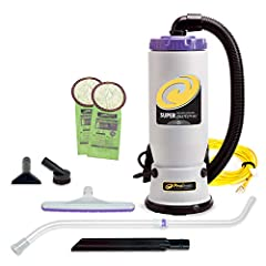 HIGH-PERFORMANCE - A high-powered motor tackles carpets, floors, upholstery, and above-the-floor surfaces including blinds, fans and lighting, Hose Length:4.5 feet VERSATILE - Smaller yet equally powerful sibling of the Super CoachVac commercial back...