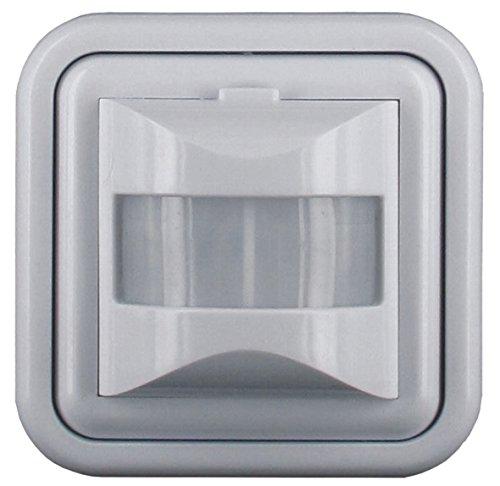 Elro ES46 Unterputz Bewegungsmelder, Erkennungsbereich 160° geeignet für LED Leuchtmittel