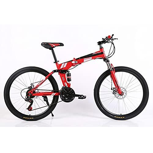 ROYWY Bicicleta Plegable para Adultos, Bicicleta para Joven, Mujer Mountain Bike, Bicicleta de montaña prémium para niños, niñas, Hombres y Mujeres -B/B / 26inch