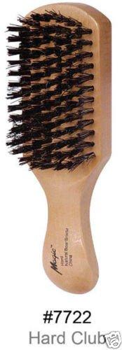 Magic Collection 7722 Brosse à poils de sanglier rigides naturels Manche en bois naturel à finition satinée