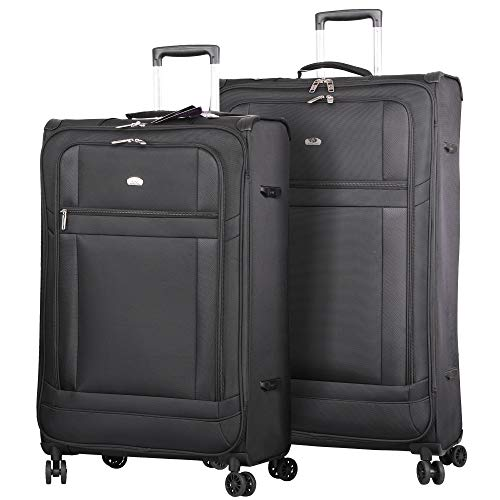 Lightweight Large Luggage Sets 2 piece - Reinforced...