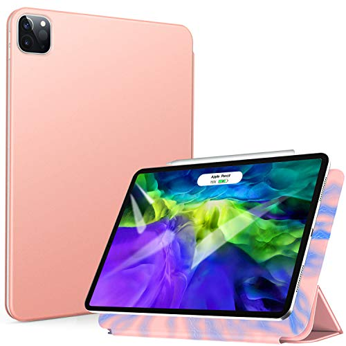 ZtotopCase Magnetic Case for iPad Pro 11 2020,Ultra Slim Smart Magnetic Back,Trifold Stand Protective Cover with Auto Wake/Sleep for 2020 iPad Pro 11 inch, Rose Gold