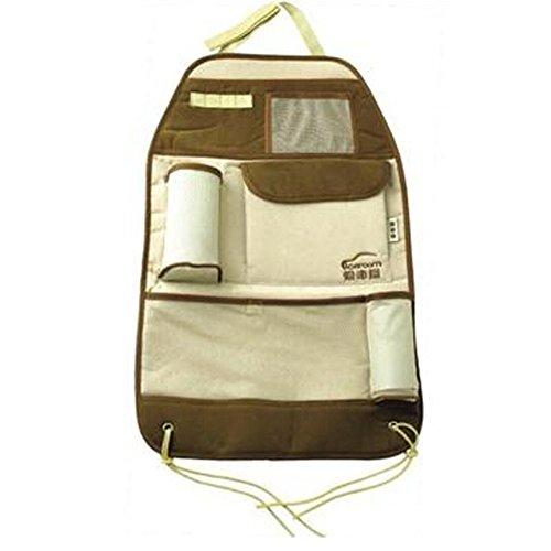 Série classique de voiture Organiseur pour dossier de siège de suspension type de sac de rangement, Buff