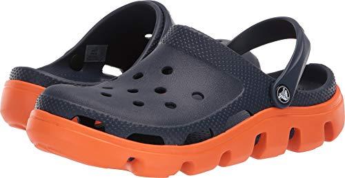 Crocs Duet Sprt Clg , Zuecos De Goma, Color Navy/Orange, Talla 37 - 38