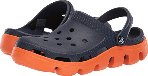 Crocs Damen Duet Sport Clog Holzschuh, Blu Scuro Navy Orange, 38/39 EU