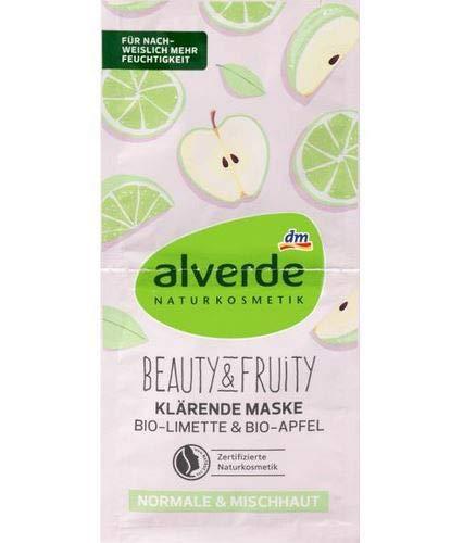 Alverde Masque Clarifiant Fruité Bio-Citron Vert et Bio-Pomme 15 ml