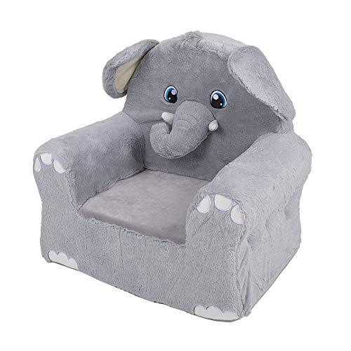 G-on Sillón de peluche para niños, juego de 3 juegos diferentes, león, unicornio, elefante (sillón de peluche de elefante)