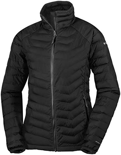 Columbia Chaqueta Impermeable para Mujer, Powder Lite Jacket, Negro (Black), Talla M