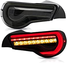 VLAND Tail lights Assembly Fit for Toyota 86 2012 2013 2014 2015 2016 2017 2018 2019 2020,Taill Lamp Assembly Subaru BRZ/Scion FRS 2012-2019 with Sequential Turn Signal, Full LED, Plug-and-play,Smoked