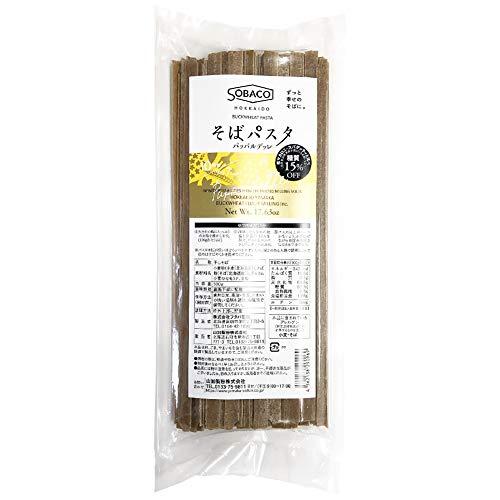 北海道産小麦粉 そば粉使用 そばパスタ パッパルデッレ 10.0mm