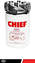 CHIEF Spin-On Filter Assembly: 10 Micron, 150 Max PSI, 55 GPM, 1 1/4'' NPTF Port Size, 15 PSI Bypass Valve, with Indicator Ports, 226009