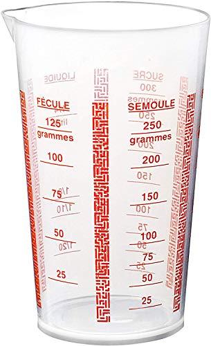 Deglon 9915800-V - Bicchiere dosatore in plastica, 1/4 l