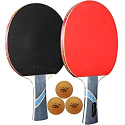 small MAPOL 4 Star Professional Table Tennis Paddle Table Tennis Advanced Training Racket and Carrying Bag…