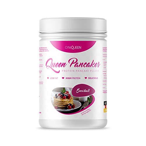 GymQueen Protein Pancakes 500g | Backmischung für leckere Protein Pfannkuchen und Waffeln | Zuckerarm & wenig Fett | Pancake Mix mit 54% Eiweiß | einfach und schnell zubereitet | Snowball