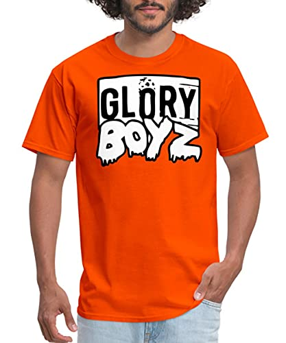 Spreadshirt Glory Boyz GBE Logo mp Men's T-Shirt, 4XL, Orange