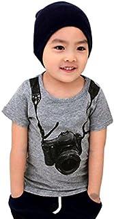 PinkLu Camiseta de Manga Corta para cámara de niño Verano niños cámara Manga Corta Tops Camiseta Camisetas Ropa
