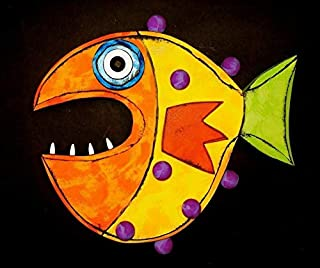 Kinks & Quirks Handpainted Whimsical Fish #50 Wall Art by Tra Art Studio…