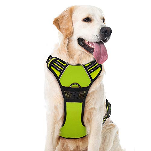 Supet Hundegeschirr Einstellbare Anti Zug Geschirr Reflektierend Atmungsaktiv Geschirr Hunde Leichtes Brustgeschirr aus Nylon Oxford für Große Mittlere und Kleine Hunde