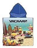Badetuch Bademantel Kapuzen Poncho für Kinder Minions Minion tolles Geschenk für Mädchen und Jungen (Minions AA)