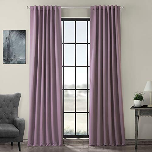 HPD Half Price Drapes BOCH-201609-84 Blackout Room Darkening Curtain (1 Panel), 50 X 84, Purple Rain
