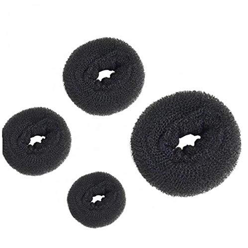 Donut Chignon Maker Anneau Style Bun Maker Ensemble Avec Chignon Makers 1 Extra-large 1 Grand 1medium Et 1petit Noir