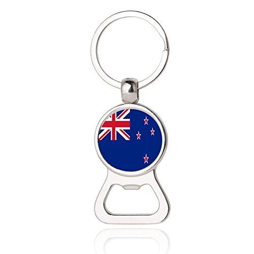 Neuseeland Flagge Bier Flaschenöffner Metall Glas Kristall Schlüsselbund Reise Souvenir Geschenk Schlüsselanhänger Zubehör