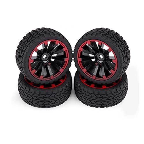 UGUTER ZLD 4 unids/Set RC Neumático Cinturón de neumáticos Rueda de Rueda de plástico/Redcat/Excedeing // HPI 1/10 RC Crawler Rock Escalada de autobús (Color : Grain Pattern)