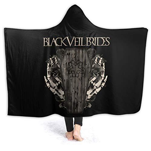 "Black Veil Brides Hooded Blanket Throw Fleece Soft Winter Novelty Blanket Bed Home Sofa 50""x40"""