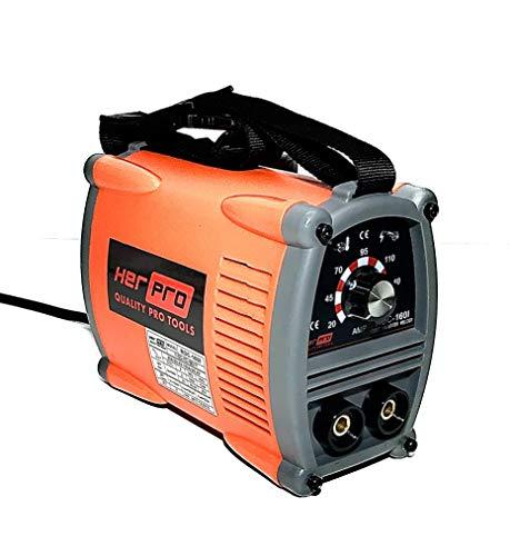 HERPRO Mini Soldador Inverter ROC 160I, 160 Amperios 60% factor de marcha, ANTI STICK, ARC...