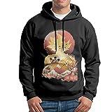 Super Saiyan Sunsei Young Dragoni Men's Hoodie Sweatshirt Men's Hooded No Pocket SweatshirtBlack Black