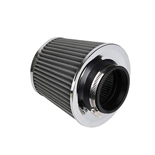 7.49 AllRight Universal Car Air Filter Induction Kit Sports Car Cone Air Filter Chrome Finish