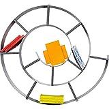 Mensola da parete a forma di chiocciola per un massimo di 150 CD Colore: argento Materiale:Lamiera di acciaio, rivestimento vernice a polvere, compensato, laminato Peso:7,8 kg Prodotto di alta qualità