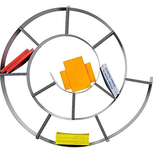 Kare Design Wandregal Snail Silber, CD-/DVD-/Bluray-/Bücher Regal, dekoratives Schneckenregal für 150 CDs, (H/B/T) 73,5x81,5x13cm