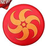 BangShou Frisbee Suave Niños del Disco Volador Frisbee con Patrón de Dibujos Animados para Niños Deportes (Llama Roja)