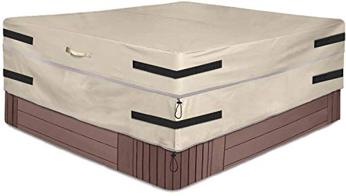 SOKINGCOVER Cubierta de bañera de hidromasaje impermeable cuadrada 218 x 218 x 55 cm