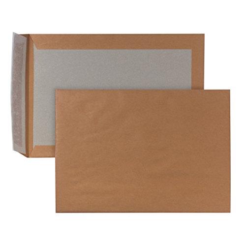 POSTHORN 00014006 - Sobres B4 (250 x 353 mm, papel de estraza 120 g, cartón gris, 450 g, autoadhesivos, 100 unidades), color marrón