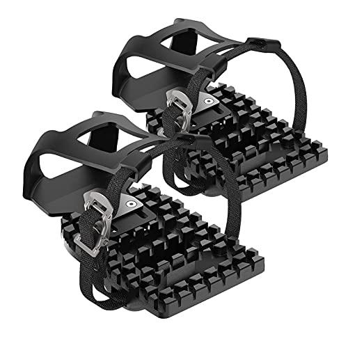 Niktule Jaulas para pedales de bicicleta Peloton compatibles con adaptadores de jaulas de dedo del pie para convertir mirada pedales Delta en interior bicicleta de ejercicio a jaulas y correas