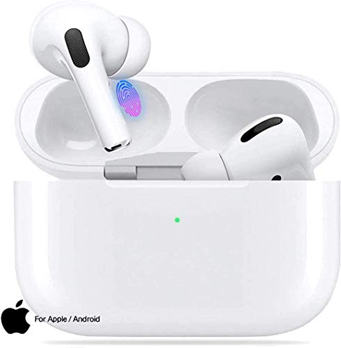 Bluetooth 5.0 Headsets Upgraded Wireless Headphone Magnetic In-Ear 3D Stereo Bluetooth Earbuds,with Touch-Control IPX5 Waterproof Pop-ups Auto Pairing for iPhone/Android/Samsung Sports Earphone