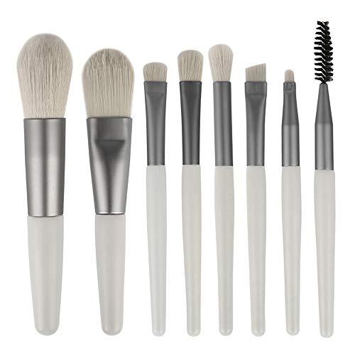 Pinceaux Cosmétique Maquillage Mini Voyage Professionnel Brush Set 8pcs for la Fondation cosmétiques Eye Concealer Lip Brosses Beauté Trousse de Maquillage (Color : Gray, Size : 8 Pcs)