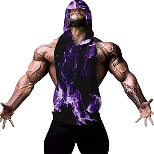 YeeHoo Mix Herren Tank Top Bodybuilding Muskelshirt Mode Gym Kapuzenshirt